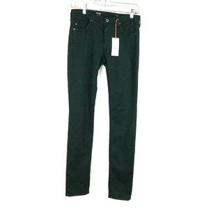 AG 26 Dark Green PRIMA Cigarette Leg Skinny Jeans